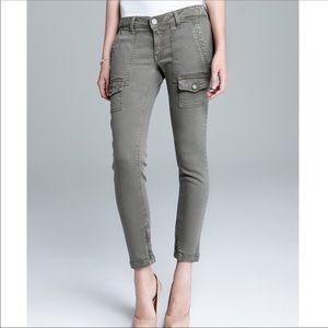 JOIE So Real Skinny Cargo Utility Stone Gray Jeans